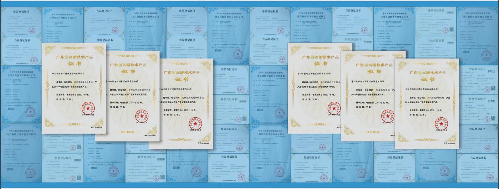 云鲸灵国际青少年儿童成长规划院证书墙